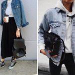 Вместо кожанки: 20 модных образов с джинсовой курткой