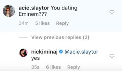Ники Минаж рассказала об отношениях с Эминемом