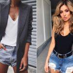 Как носить джинсовые шорты: 20 модных вариантов на лето 2018