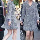 Кэти Холмс в кокетливом платье похвасталась стройной фигурой