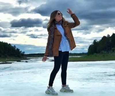 Жанна Бадоева впервые побывала на леднике