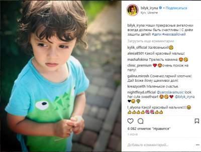Ирина Билык поделилась снимком младшего сына