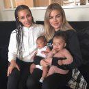 Сестры Кардашьян опубликовали трогательное фото с дочерьми