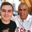 Соболев в России встретился с Сами Насери в футболке с надписью «СССР»