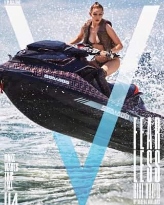 Джиджи Хадид на гидроцикле попала на обложку журнала