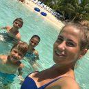 Юлия Барановская вместе с детьми проводит время в морском круизе
