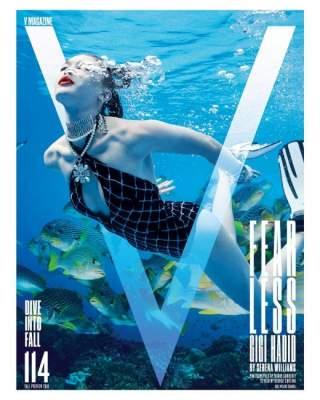 Джиджи Хадид в купальнике украсила модный глянец