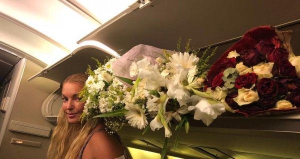 Откуда цветочки, врушка?: Подписчики обвинили пьяно ухмыляющуюся Волочкову в обмане