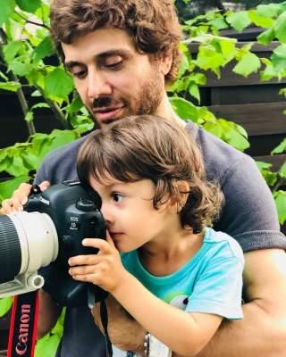 Муж Ирины Билык обучает сына