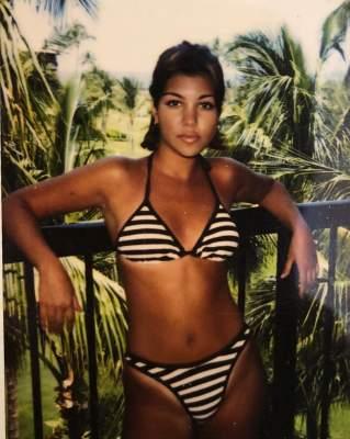 Кортни Кардашьян показала, как выглядела в 14 лет