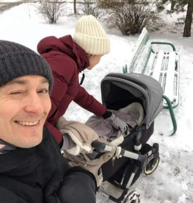 Сергей Безруков показал жену с новорожденным сыном