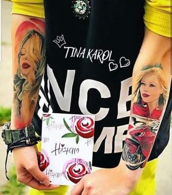 Тина Кароль стала героиней татуировки на руках поклонницы