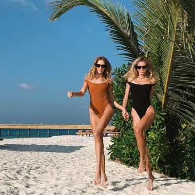 Вера Брежнева в купальнике позировала на Мальдивах
