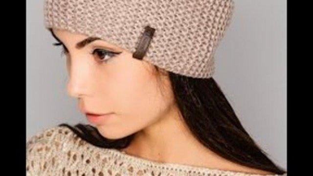 Связать шапку спицами для женщины