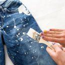 Как вывести краску с джинс